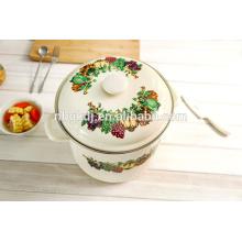 esmaltado impreso olla de cocción alta enamelware chino al por mayor
