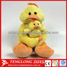 Parent-child toy lovely stuffed duck toy with infant