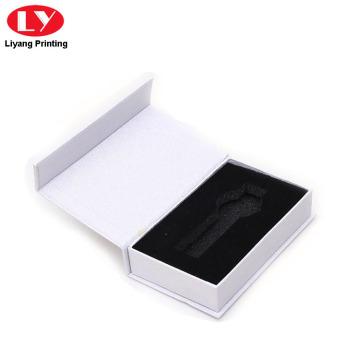 Cajas de relojes de lujo blanco para el embalaje de un solo reloj