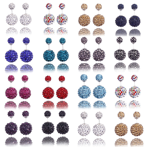 Double-faced Shamballa Jewels Earring