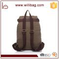 Sac à dos vintage de sac à dos de toile de sac à dos décontracté d'usine d'OEM