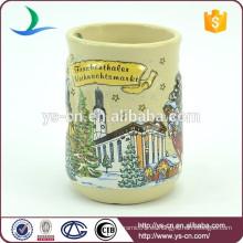 YScc0014-01 Taza de cerámica de la Navidad 3d al por mayor