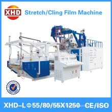 Three layer lldpe stretch cling film production line pallet wrap film extruder