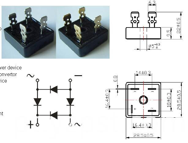 Single-phase Bridge Rectifier YZPST-BR2504
