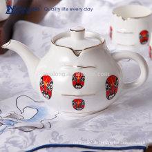 Chinesische traditionelle Kultur Stil Fine Bone China Tee Pot und Kessel Set