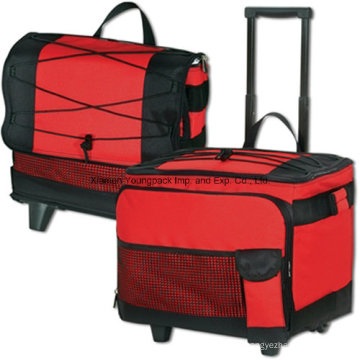 Custom Collapsible 54-Can Insulated Rolling Cooler for Beach