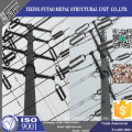 110kv 132kv Galvanized polygonal electric power pole