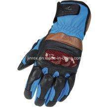 Blue Cycling Motorcycle Motorbike Full Finger Gel Padding Glove