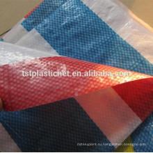 Красный белый полоса сверхмощный Поли рынке брезент, различные размеры доступны