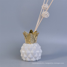Decorative Essential Oils Pineapple Shape Ceramic Diffuser Bottles with Reed
