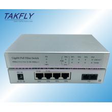 1000m1fx + 4tp Poe Optik Fiber Switch