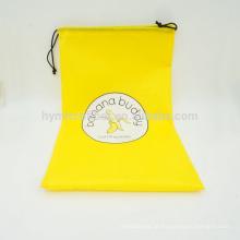 Saco de cordão durável do poliéster durável feito sob encomenda barato do logotipo da fábrica por atacado