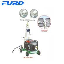 400W*2 Hand Elevating Frame Electric Mobile Light Tower (FZM-400A)