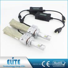 Kits de luces LED sin ventilador pares 8000lm 5S H7 6500K Bombilla de conducción de luz blanca más cercana con PHI ZES CSP