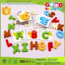 Top 2015 montessori letras de alfabeto de madeira para brinquedos para bebê