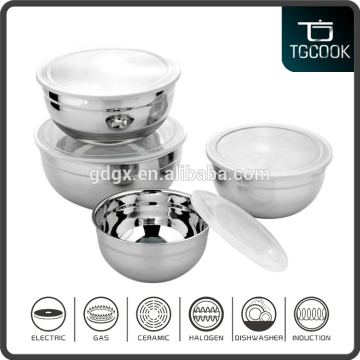 Stainless Steel Salad Bowl, Mixing Bowl with Lid, Fresh Bowl with PP lid