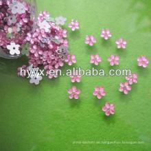 Niedliche herzförmige Citrin Acryl Strass Perlen