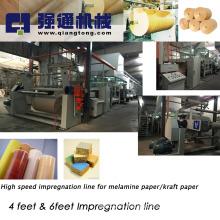 Melamine paper coating machine/ 4 feet melamine paper line