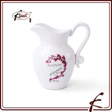 Jarra de leche de cerámica decorativa jarra