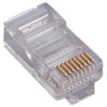 Cristal transparente cabeça rj11 rj45 conector 8p8c / 6p4c / 4p4c, conector rj45 conector cat6