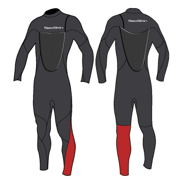 Traje de neopreno súper flexible Seaskin de 4/3 mm sin cremallera