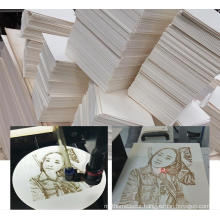 """8 """"laser photo wood engraving special white basswood laser wood engraving board 2mm"""