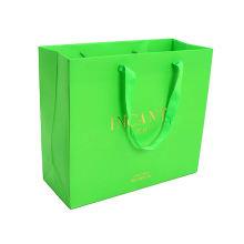 Luxury Shopping Bags Print Logo Kraft Paper Bag China bolsas de papel para supermercados Boutique Bags Use