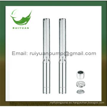 Precio estándar excelente 4 pulgadas 3kw 4HP de cobre de cobre de la bomba de agua sumergible de pozo profundo de latón de salida (4SP2-55 / 3KW)