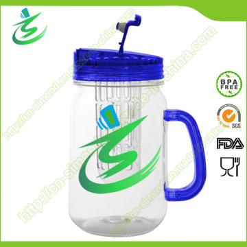 16oz Mason Jar, verre à eau en plastique avec poignée (IB-A5)