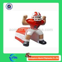 Gigante de publicidad inflable jugador de fútbol inflable fútbol túnel