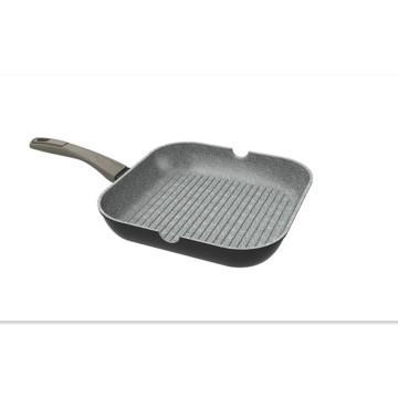 3 lays Granite Non-stick coating square fry pans skillet Wholesale Aluminium Non-stick Cookware sets