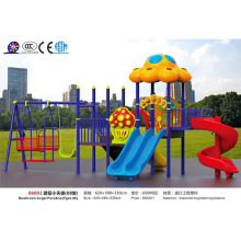 JS06002 Hotsale дети открытый пластиковый гриль площадка слайд и качели развлекательного оборудования для продажи