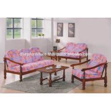 Juego de sofá de madera, sofá