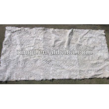 top quality natural white color tianjin lamb fur plate