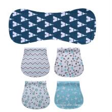 Deekids Organic Cotton 4-pack Unisex Baby Burp Cloths Newborn Towel Burp Bib Milk Spit Up Rag