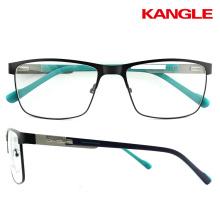 2017 gafas grandes del hombre de la manera nuevas lentes del diseño marcos ópticos del metal