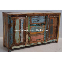 Recycled Hölzernes Ethinic Indian Sideboard