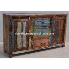Aparador indiano de madeira reciclado em madeira etética
