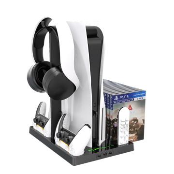 Вертикальная подставка с держателем для гарнитуры для PS5