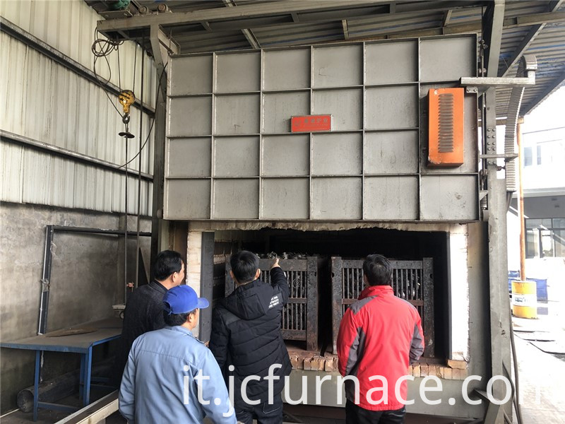 High hermetic trolley type annealing furnace guidance