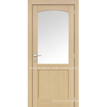 Porta interior em MDF com vidro redondo