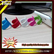 2014 mini colorido personalizado impreso Touch-u titular de teléfono flexible de silicona de fábrica de china