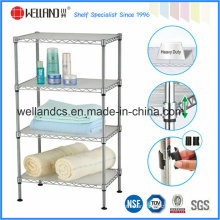 Adjustable Chrome Metal Wire Bath Washing Room Towel Rack (CJ-C1187)