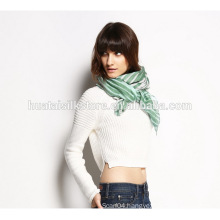 Lady Scarf Viscos and Linen Stripe Wide Shawl
