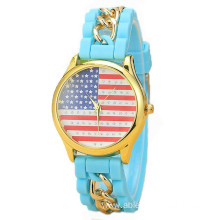 Girls Silicone Snack Quartz Analog Charm Watch