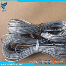 SS304 6X19+IWRC 5mm Non-magnetic Stainless Steel Wire Rope
