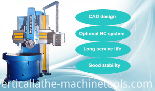 Single column cnc vertical lathe machine