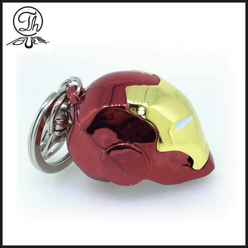 Iron Man Helmet metal key rings
