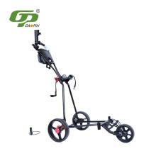 Nuevo prodcuts alta calidad barato Empuje el carro de golf con el asiento del sostenedor del paraguas