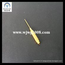 Sonde à aiguille plaquée or à l'acupuncture D-3